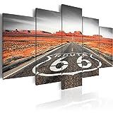 murando Quadro 200x100 cm 5 Pezzi Stampa su Tela in TNT XXL Immagini Moderni Murale Fotografia Grafica Decorazione da Parete Route 66 Paesaggio c-B-0020-b-o