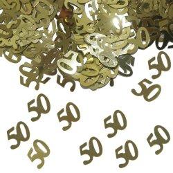 floristikvergleich.de 15g Tischkonfetti Zahl 50 Goldene Hochzeit