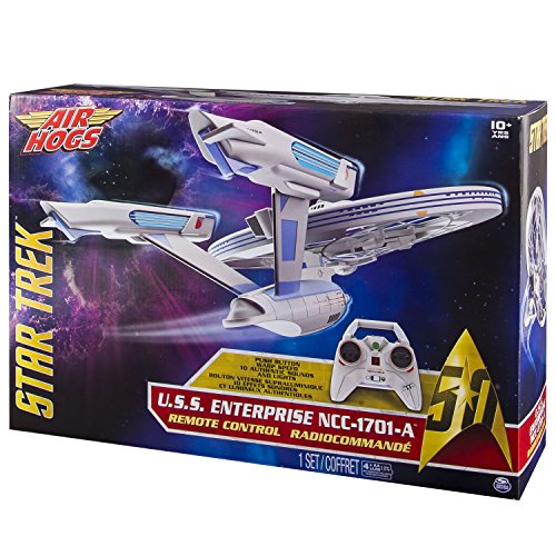 Spin Master Air Hogs Star Trek Enterprise - Juguetes de Control Remoto (AA, 250 mm, 400 mm, 458 mm, 134 mm, 305 mm)