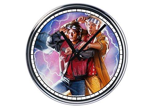 Orologio da partete in acciaio Ritorno al futuro-film