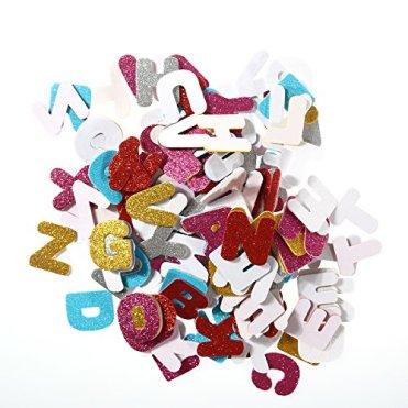 ULTNICE-Glitter-Foam-Aufkleber-Selbstklebend-Buchstaben-Dekorative-Aufkleber-fr-DIY-Handwerk-Wand-Home-Decor-Pack-von-150