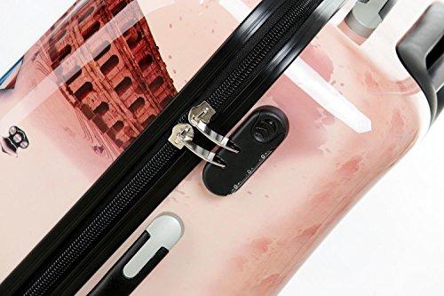 Reisekoffer 2060 Hartschalen Trolley Kofferset in 12 Motiven SET--XL-L--M-- Beutycase (Tower, 3er Set(XL+L+M)) - 4