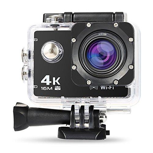 NEXGADGET 4K Action Camera, IP68impermeabile Sports Camera 30FPS con Sony sensore, WiFi Ultra HD 16MP grandangolo 170° 2,0pollici LCD