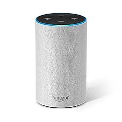 Kaufen Amazon Echo (2. Generation), Intelligenter Lautsprecher mit Alexa, Sandstein Stoff