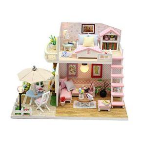 Casa de muñecas Casa de muñecas en miniatura Casa de muñecas en miniatura Con muebles y accesorios Kit de juguetes…