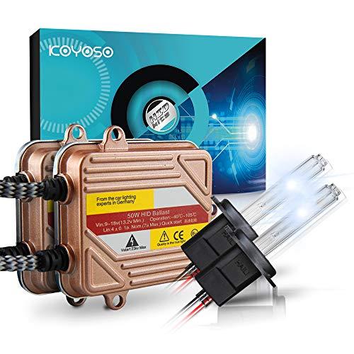 KOYOSO Lampadine H7 Kit Xenon HID 5000K 50W Slim Centraline Lampade di Avvio Rapido