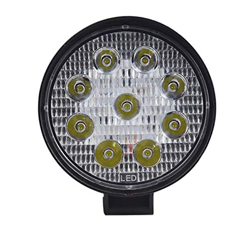 27W LED DRL Camión de coche Luz de trabajo Impermeable Luz de carretera Foco súper brillante para motocicleta de coche todoterreno negro
