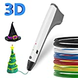 SUNLU 3D Pen Kids Drawing Doodling 3D Printing Pen Pencil Printer Intelligent PCL PLA Filament Refills Best Gift for Teens and Childs,White Color
