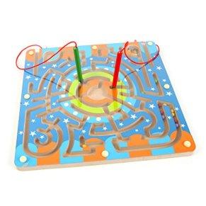 Laberinto Madera, Netspower Magnética Laberinto Rompecabezas para Niños de Madera de Juguete de Dibujos Magnéticos…