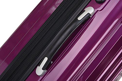 Zwillingsrollen 2048 Hartschale Trolley Koffer Reisekoffer in M-L-XL-Set in 14 Farben (LILA, SET) - 3