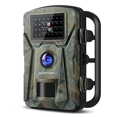 """APEMAN Wildkamera Fotofalle 1080P Full HD 12MP Jagdkamera Weitwinkel Vision Infrarote 20m Nachtsicht wasserdichte IP66 Überwachungskamera mit 2.4\"""" LCD Display"""