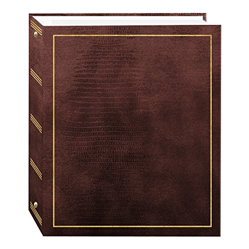 Pioneer Photo Albums Magnetic Self-Stick 3-Ring Album 100 Pages (50 Sheets, Brown)