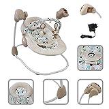 Todeco - Hamaca para Bebes, Mecedora para Bebés - Tamaño: 68 x 62 x 61 cm - Función Swing: 5...