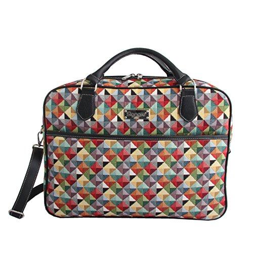"""SIGNARE Maletín tapiz moda para mujer bolsa para portátil, 15,6"""" Triángulo multicolor"""