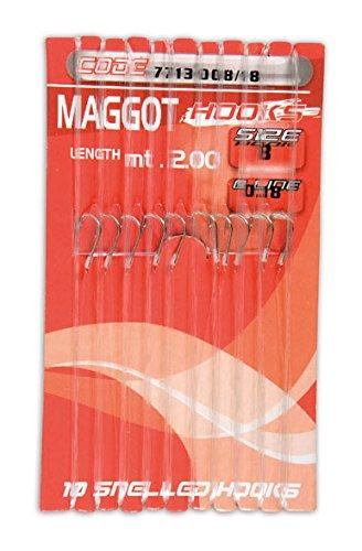 MAGGOT HOOKS 10 AMI LEGATI SU CARTONCINO - 12X14