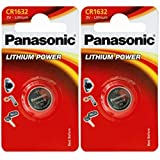 Panasonic 1632 CR1632 3V Lithium 2 Pack Battery
