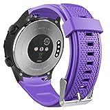 MoKo Cinturino Per Huawei Watch 2, Braccialetto Ricambio Sportivo in Silicone per Huawei Watch 2nd, Viola