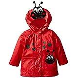 Highdas Bebé Niños Beetle Windproof Rainsuit Niños Chaqueta Encapuchada Rojo / 100