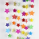 3D Paper Garland (Set of 3) - STAR shaped Designs - Party Decoration / Room Decor