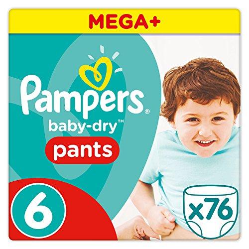 Pampers Mega Plus Baby-Dry Pannolini, confezione Mega +