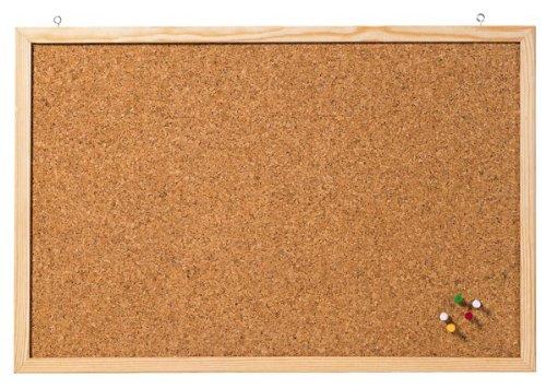 Franken CC-Kt3040E - Bacheca in sughero, 40 x 30 cm, colore: marrone