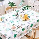 Mantel De Plástico PVC Rectangular Varios Tamaños Impresión De Cactus