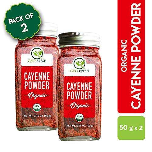 Geo-Fresh Organic Cayenne (Chilli) Powder 50g (Pack of 2)