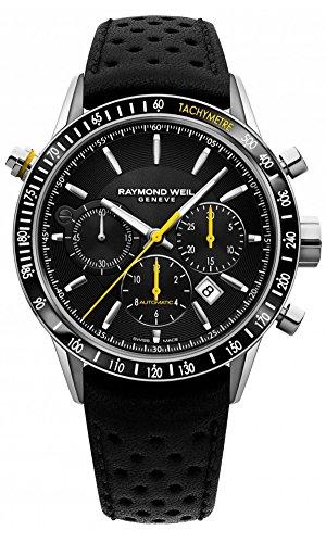 Raymond Weil automatico cronografo, PVD, giorno, 7740-sc1-20021