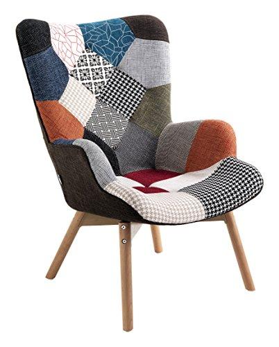 Wink Design Kaleidos-G Poltrona, Lino, Multicolore, 67x78x94 cm