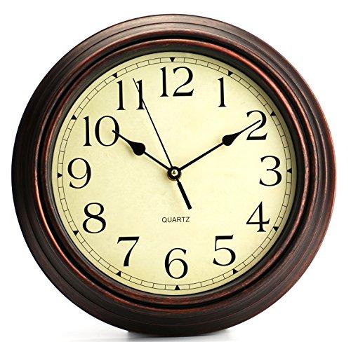 Tebery 30,5 cm Rotondo Classico Orologio Retro quarzo lancetta decorativo orologio da parete,...