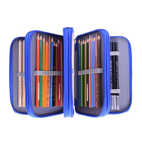 Astuccio Oxford 72 slot portapenne Super grande per matite colorate (matite non incluse) Blu