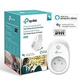 TP-Link HS110(FR) Prise connectée WiFi avec mesure de consommation, Charge maximale 16A, compatible avec Amazon Alexa (Echo et Echo Dot), Google Assistant et IFTTT, aucun hub requis,Blac