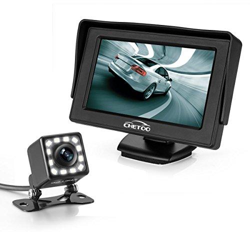 Telecamere Per Retromarcia Impermeabilità 170 Gradi Grandangolo Alta Risoluzione Retromarcia Auto +4.3 Pollici TFT LCD Monitor