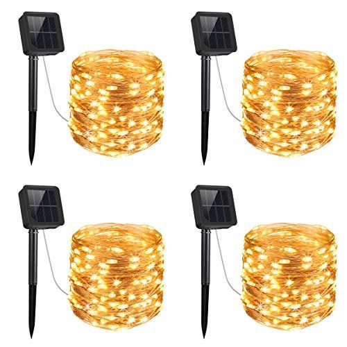 Criacr Luci Stringa Solare, (100 LED, 8 Modi) Luci Solari, 10M luci Stringa Filo di Rame, Auto...