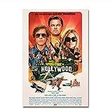 NR Poster cinematografici C'era Una Volta a Hollywood Stampe d'Arte retrò Quadri Vintage Decor Quentin Tarantino Posters-50x70cm Senza Cornice