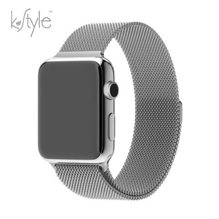 Apple Watch Band Kstyle, Milanese Loop With Magnet Lock, Stainless Steel Bracelet Strap, for iWatch Sport, Edition and All Models, 42mm - Silver (Watch isn't included)