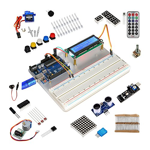 51TiMcN0VAL - Kit de aprendizaje para programar KOOKYE para Arduino, Raspberry Pi none UNO R3 Starter kit for Arduino