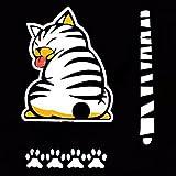 Tocoss(TM) Decoraci¨n Gato de la historieta divertido creativo Moviendo la cola etiquetas auto ventana del veh¨ªculo del limpiaparabrisas etiquetas del coche fuera Styling Decoraci¨n (Brown)