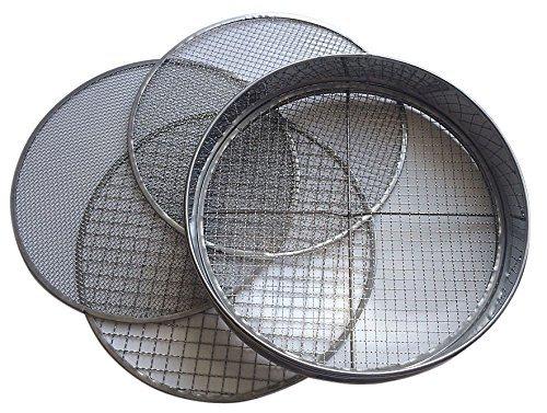 Practicool - Tamiz con 4 Mallas Intercambiables (3,6,9,12mm)