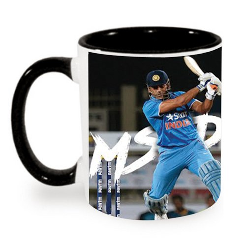 MS Dhoni Ceramic Designer Printed Coffee Mug by PUCHKU - MUG1022