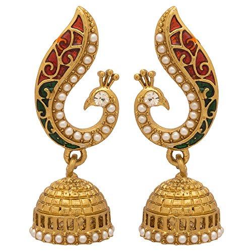 Voylla Gold Metal Dangle & Drop Earrings For Women
