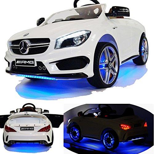 #Mercedes-Benz CLA 45 AMG viele LED Effekte Soft Start Kinderauto Kinderfahrzeug Kinder Elektroauto -weiss-#