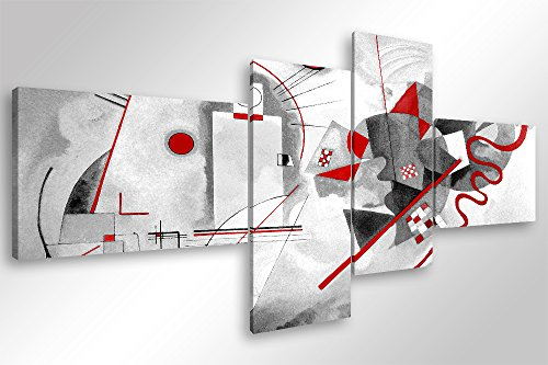 Quadro Moderno KANDINSKY MODERN - cm 160x70 Stampa su Tela Canvas Arredamento Arte Astratto XXL...