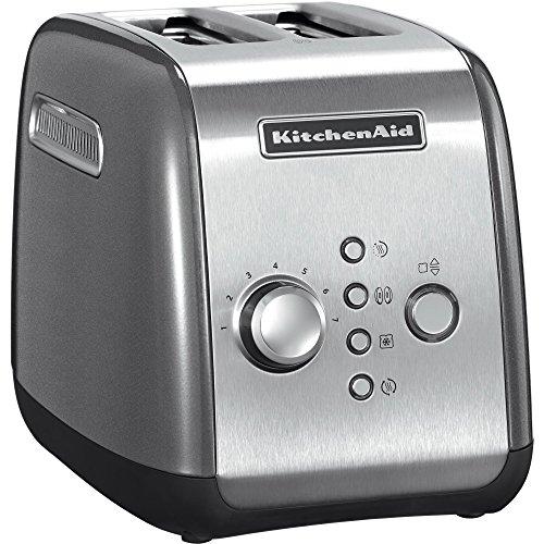 Kitchenaid 5KMT221ECU Grille-Pain pour 2tranches Argenté
