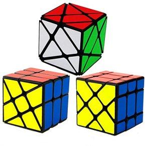 HJXDtech- Yongjun Juguetes educativos Clásico Negro 3 espadachín Conjunto mágico del Cubo Irregular de la torcedura del Rompecabezas del Cubo (3 espadachín)