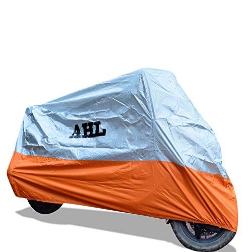 AHL Funda para moto Funda Protector Cubierta Resistente A prueba de UV (Naranja ,XL)