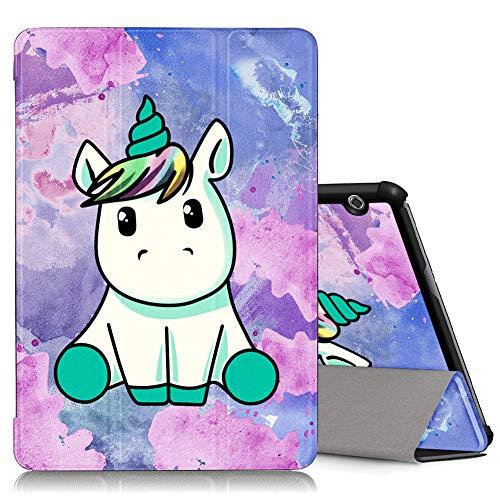 ZhuoFan Cover Huawei Mediapad T5 10, Ultra Slim Antiurto Flip Case Custodia a Libro in Pelle con...