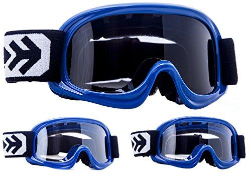 Gafas para moto Armor Motocross Kids · (Black/Silver / Clear)