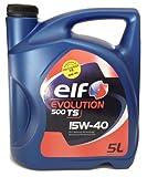 Elf 1951052031 - aceite de motor evolution 500 ts 15w40 5l