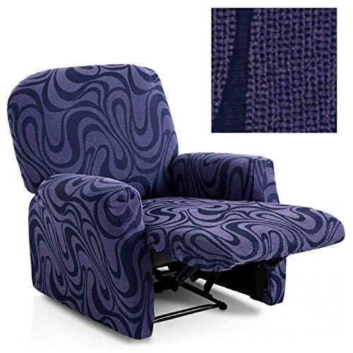 Jarrous Funda de Sillón Relax Completo Elástica Modelo California, Color Malva-9, Medida 60-80cm Respaldo
